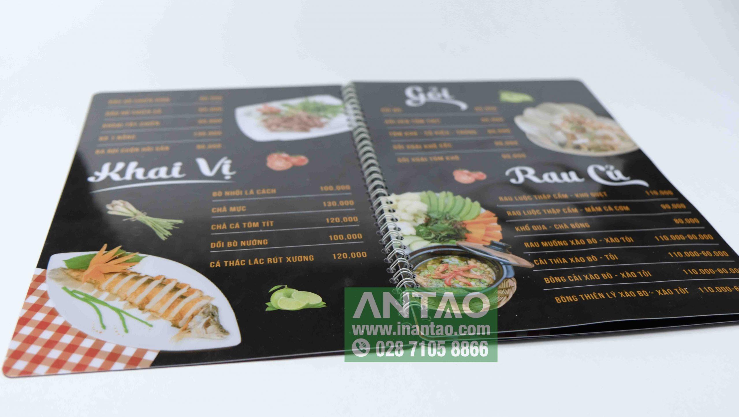 menu nhựa giá rẻ