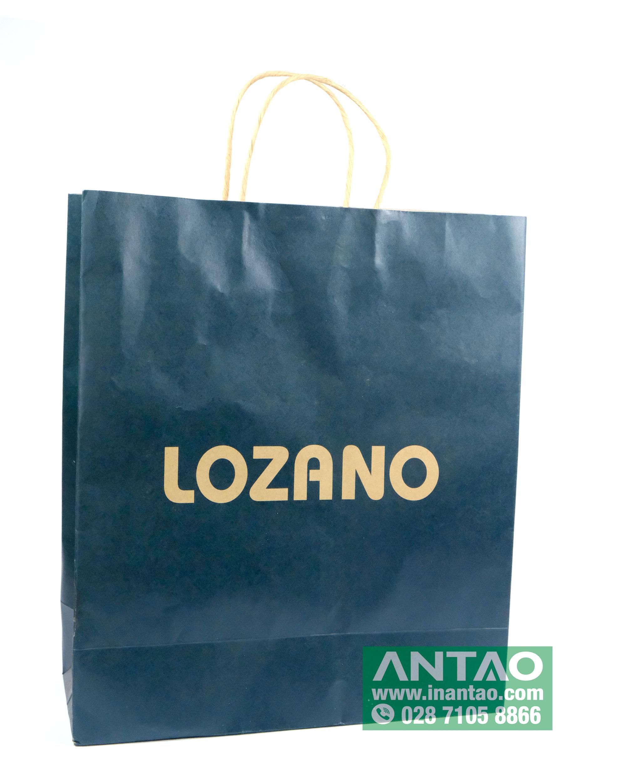 Túi giấy Kraft shop thời trang