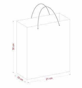 Kích thước túi giấy shop thời trang